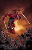 Deadpool vs Zombies by Marat by SplashColors