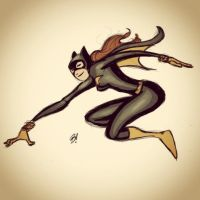 Batgirl Sketch Colored by DaveBardin