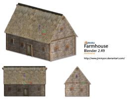 Blender 3d Farmhouse by Jimmyon