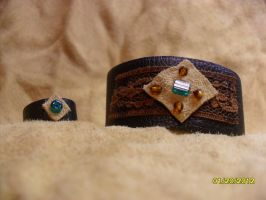 Semi-Rustic Bracelet and Ring by openmeadow