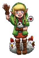 Little Linkle with Cuccos by BritAndBran