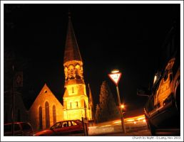 Church by Night by anotherview