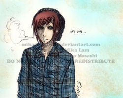 Gaara AU version. Hipster by MikachuAttack