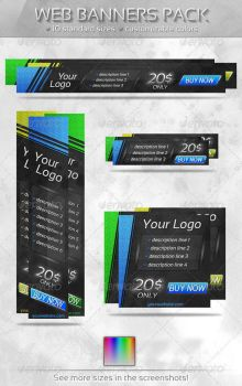 Slant Web Banners Pack by HekiaDesign