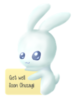 Get well soon bunny for Chu by iRaion