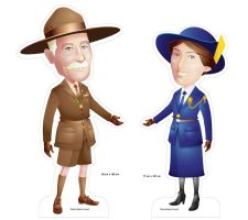 Girl Scout _ Boys Scout Founder Standee by armsofsin