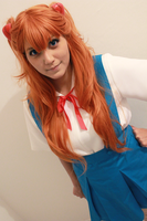 Anta baka? (Asuka Langley Cosplay) by Naru-Langley