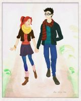 Hipster-ish Lily and James by breath-in