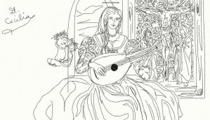 St. Cecilia sketch by anelphia