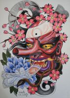My interpretation of a tengu mask by graynd