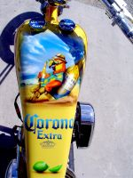 corona chopper gas tank by xsomedudex