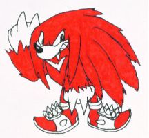 Knuckles the Werechidna by KoonieDude