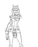 Ahsoka new design lineart by JosephB222