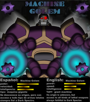 MACHINE GOLEM status card by mayozilla