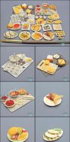 Commission - 1:12 Scale Dollhouse Foods by Bon-AppetEats