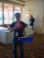 Bronie and his signed Twilight toy at SacAnime by DearestLeader