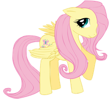 Fluttershy Lineart   By Pikachu344 Colored by Neighthirst