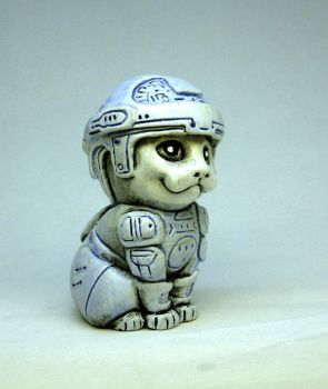 Light cycle biker Kitty painted by Switchum