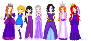 Princesses In Purple by AwesomebyAccident