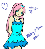 Hime in Dress -colored- by Kirby1fan