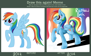 Draw This Again! Meme - My First MLP Fanart by TheImmolatedPoet