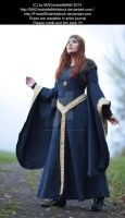 Blue Medieval Dress Lady Stock 003 by MADmoiselleMeliStock