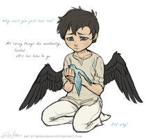 Too much heart was always Castiel's problem by RekalaRain