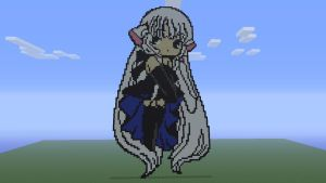 Freya (Chobits) - Minecraft 360 Pixel Art by Splintz