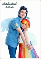 Soarin and Rainbow Dash Cosplay (Canterlot Wedding by Senaris