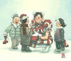 Street Fighter Christmas by UdonCrew