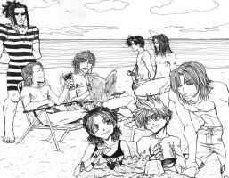 beach bums by animegher