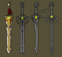Googly-eyed swords by RobertFriis