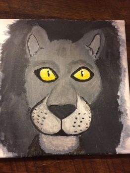 Lion painting  by F00000d