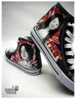 Bobsmade_shoes-White Stripes by Bobsmade