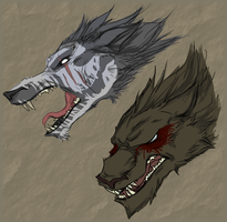 Werewolves by Greasy-Hyena
