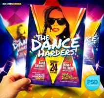 PSD Dance Harders Party Flyer by itscroma