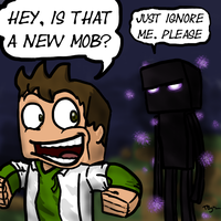 Ignore the enderman by Paradox-Duck