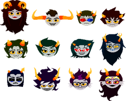 Canon troll headsprites by Magdaleen-96
