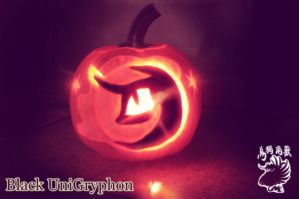 Nightmare Moon Carved pumpkin Jack O Lantern HDR by BlackUniGryphon