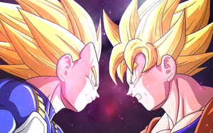 Vegeta VS Goku by Jannette92