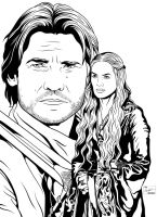 Jaime and Cersei by frostdusk
