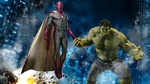 The Vision and Hulk by DavidCreativeDesigns