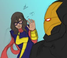 All-New Ms. Marvel meets Iron Man Sketch by ConstantM0tion