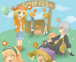 Harvest Moon- Sheep Festival by Kahmelion