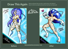 Draw this again - Felicia by TheInsaneDarkOne