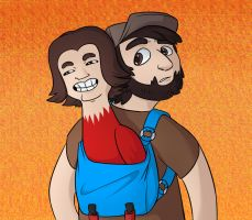 Game grumps kazooie by LouiseWeird