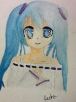 Vocaloid: Miku (watercolored) by Redax3