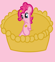A Pink Pinkie Pie Party Pony In A Pie. by SJArt117