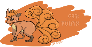 037: Vulpix by Speedvore