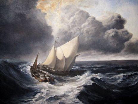 Dutch Boats in a Gale by GreenBass